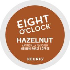 Eight O'Clock Arabica Hazelnut Coffee - K-Cup - 24 / Box