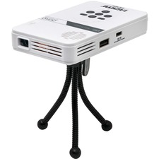AAXA LED Pico Projector with 80 Minute Battery Life, mini-HDMI, mini-VGA, 15,000 hour LED Life, and Media Player