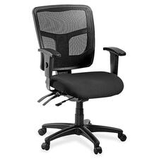 LLR8620135 - Lorell ErgoMesh Series Managerial Mid-Back Chair