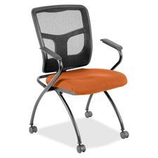 LLR8437456 - Lorell Mesh Back Fabric Seat Nesting Chairs