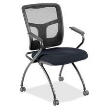 LLR8437466 - Lorell Mesh Back Fabric Seat Nesting Chairs