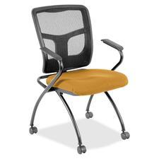 LLR8437453 - Lorell Mesh Back Fabric Seat Nesting Chairs