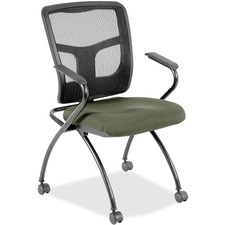 LLR8437485 - Lorell Mesh Back Fabric Seat Nesting Chairs