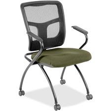 LLR8437434 - Lorell Mesh Back Fabric Seat Nesting Chairs