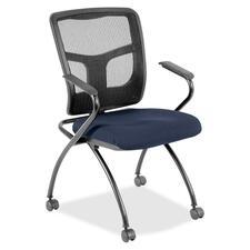 LLR8437452 - Lorell Mesh Back Fabric Seat Nesting Chairs