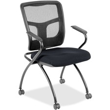 LLR8437497 - Lorell Mesh Back Fabric Seat Nesting Chairs