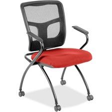 LLR8437457 - Lorell Mesh Back Fabric Seat Nesting Chairs
