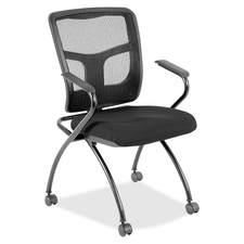 LLR8437435 - Lorell Mesh Back Fabric Seat Nesting Chairs