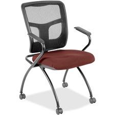 LLR8437426 - Lorell Mesh Back Fabric Seat Nesting Chairs