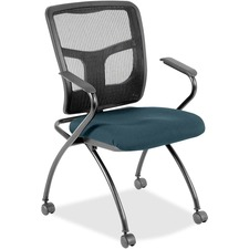 LLR8437459 - Lorell Mesh Back Fabric Seat Nesting Chairs