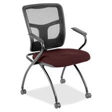 LLR8437464 - Lorell Mesh Back Fabric Seat Nesting Chairs