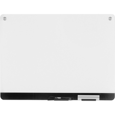 """Iceberg Clarity Dry Erase Glass Board - 24"""" (2 ft) Width x 18"""" (1.5 ft) Height - Ultra White Tempered Glass Surface - 1 Each"""