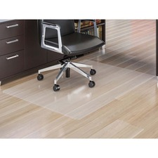 """Lorell XXL Polycarbonate Chairmat - Hard Floor, Carpeted Floor - 60"""" (1524 mm) Width x 79"""" (2006.60 mm) Depth - Rectangle - Polycarbonate - Clear"""