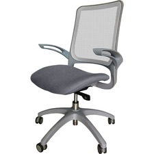 LLR 23551 Lorell Gray Base Weight-activated Task Chair LLR23551