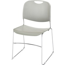 LLR 42940 Lorell Metal Wire Lumbar Support Stacking Chairs LLR42940
