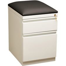 LLR49540 - Lorell Mobile Pedestal File with Seating