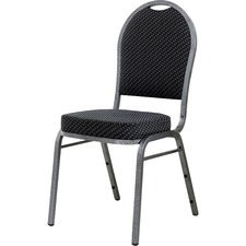 LLR62519 - Lorell Upholstered Textured Fabric Stacking Chair