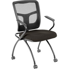 LLR8437404 - Lorell Mesh Back Fabric Seat Nesting Chairs