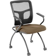 LLR8437406 - Lorell Mesh Back Fabric Seat Nesting Chairs