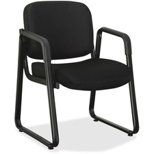 LLR 84576 Lorell Black Fabric Guest Chair LLR84576