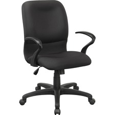 LLR 84579 Lorell Executive Mid-back Fabric Contour Chair LLR84579