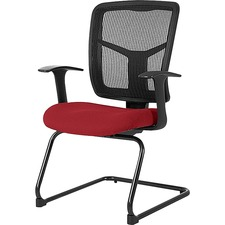 LLR 8620202 Lorell Adjustable Arms Mesh Guest Chair LLR8620202