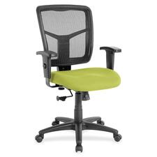 "Lorell Managerial Mesh Mid-back Chair - Frame - 25.3"" x 23.5\"" x 40.5\"""