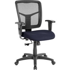 LLR 8620910 Lorell Managerial Mesh Mid-back Chair LLR8620910