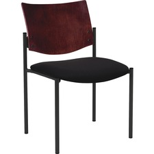 LLR 89057 Lorell Armless Wood Back Guest Chairs LLR89057