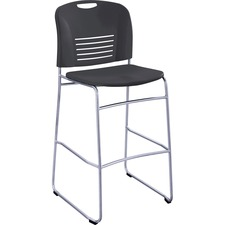 SAF 4295BL Safco Vy Sled Base Bistro Height Chair SAF4295BL