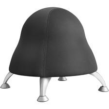 "Safco Runtz Ball Chair - Mesh Fabric Licorice Seat - Steel Powder Coated Frame - Black - 22.5"" Width x 22.5"" Depth x 17"" Height"