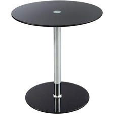 SAF 5095BL Safco Tempered Glass Accent Table SAF5095BL