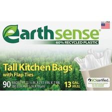 WBI GES6FK90 Webster Earth Sense 13-gal Tall Kitchen Bags WBIGES6FK90