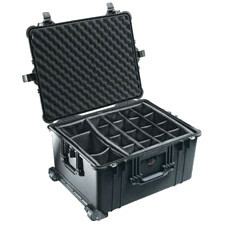 1624 Black Pelican Case No Liners With Dividers / Mfr. No.: 1620-124-110