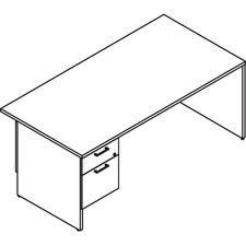 LAS31NFF3072SO - Lacasse Left Single Pedestal Desk