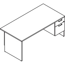 LAS31NFS3072FO - Lacasse Right Single Pedestal Desk