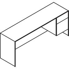 LAS4YS2072FZ - Lacasse Right Single Pedestal Credenza - 2-Drawer