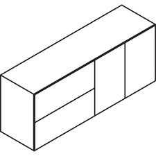 LAS72DLF2472BL - Lacasse Lateral File / Bookcase Credenza - 2-Drawer