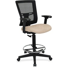 LLR4310089 - Lorell Stool,Mesh Back/Black Frame
