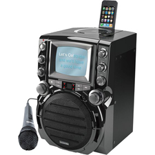 "Karaoke USA Portable CD+G Karaoke System with 5.5"" B/W Monitor"