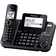 Panasonic KX-TG9541B DECT 6.0 1.90 GHz Cordless Phone - Black - 2 x Phone Line - Speakerphone - Answering Machine - Backlight