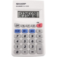 SHR EL240SAB Sharp EL-240SAB Handheld Calculator SHREL240SAB