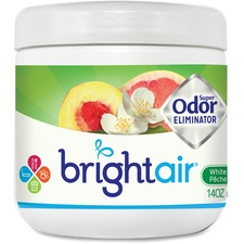 BRI 900133 Bright Air White Peach Super Odor Eliminator Jar BRI900133