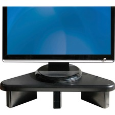 "DAC Stax Ergonomic Height Adjustable Corner Monitor Riser - 29.94 kg Load Capacity - Flat Panel Display Type Supported19.75"" (501.70 mm) Width - Desktop - Black"