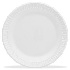 DCC 9PWCR Dart Round Foam Dinnerware Plate DCC9PWCR