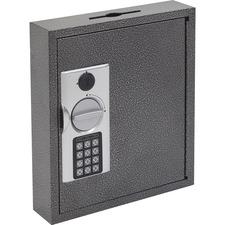 FireKing E-lock Steel Key Cabinets - Electronic, Key Lock - Scratch Resistant - for Key - Black, Silver, Silver, Black - Steel, Chrome Plated
