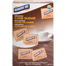 GJO 70470 Genuine Joe Turbinado Natural Cane Sugar Packets GJO70470