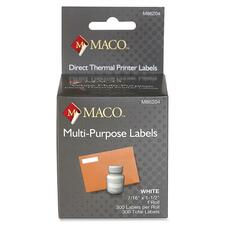 MAC M86204 Maco Direct Thermal Printer Labels MACM86204