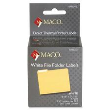 MAC M86205 Maco Direct Thermal Printer Labels MACM86205