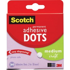 MMM 010300M 3M Medium Craft Permanent Adhesive Dots MMM010300M